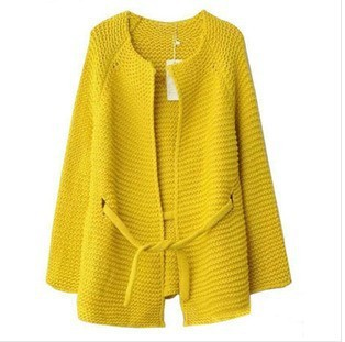 Autumn retro long sections loose knit cardigan sweater women coat female jacket plus size clothing - Online Store 923589 store