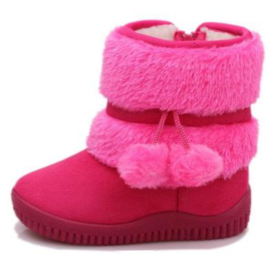 Girls Boots Children's Winter Snow Boots Boys Warm Shoes Kids Sequins Vamp Rubber Sole Fashion Medium-sized Child Boot