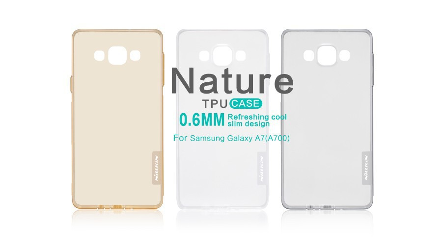 1NILLKIN Thin Transparent Nature TPU Case Samsung Galaxy A7 A700 S Line Clear Hard Soft Back Cover - NILLKIN Foison Group1 Store store