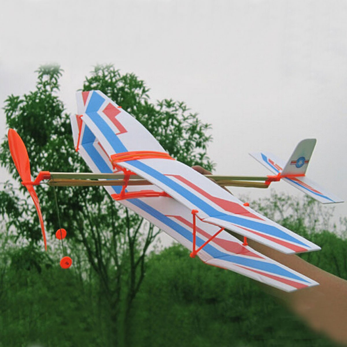 NEW Educational DIY Assembly Airplane Aircraft Launched Powered By Rubber Kids Model Building Kits(China (Mainland))