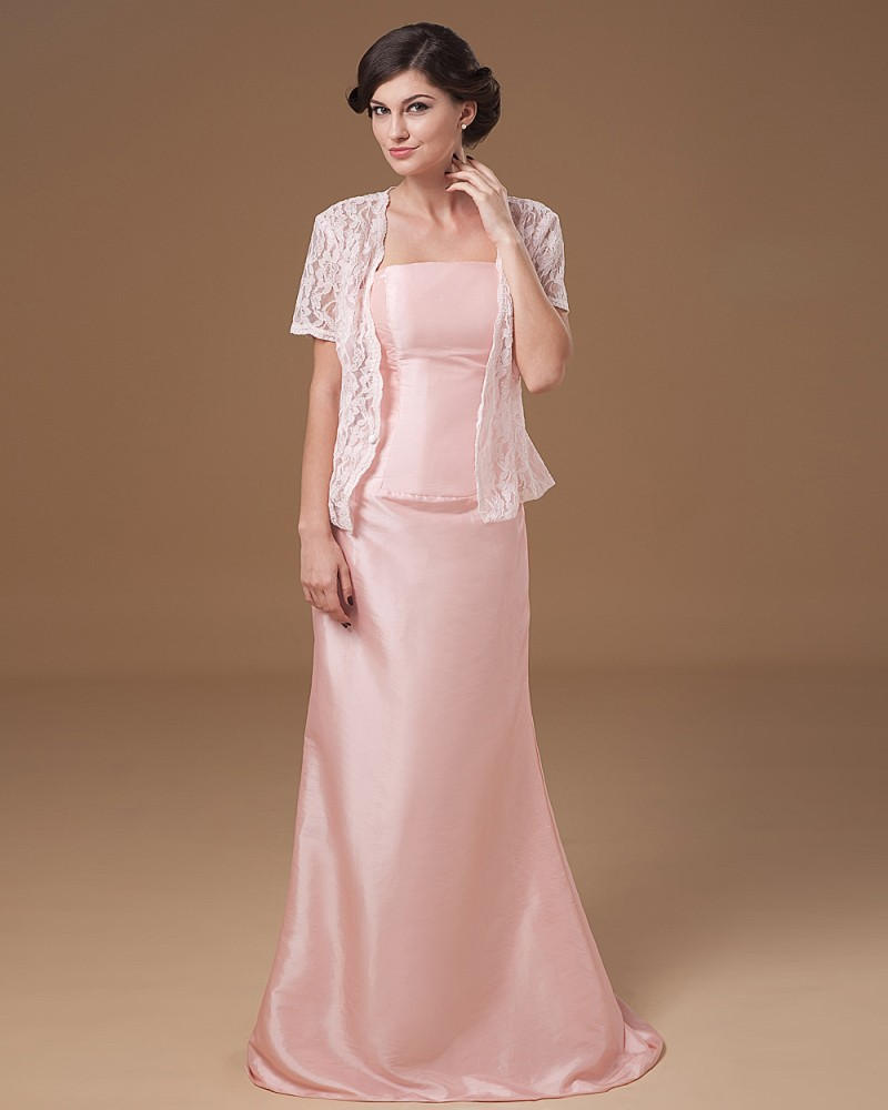 Floor Length A Line Sleeveless Long Pale Pink Pastel
