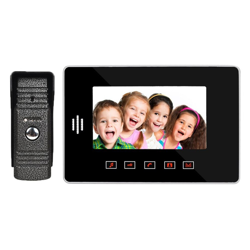 High-definition 7inch Touch TFT LCD Video Door Bell Home Intercom System Family Security Safety Doorbell Doorphone Hot Sale(China (Mainland))