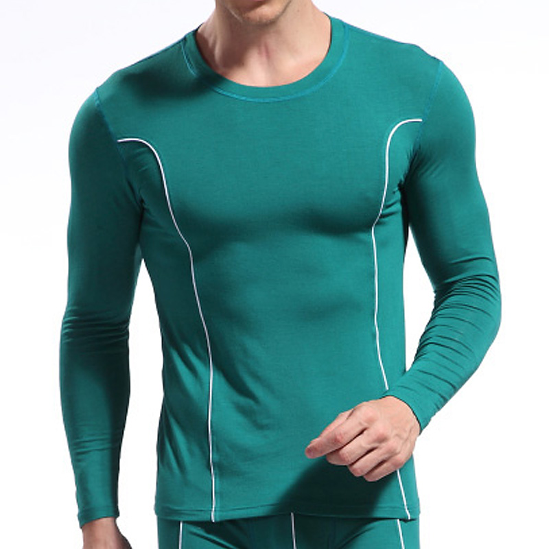 Men Under Shirt Long Sleeves Sleep top Tight For Warm Slim fit Cheap price O-neck Retail Size S M L Free shipping