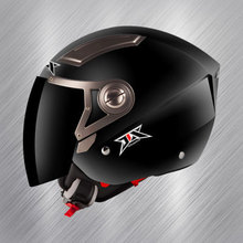half 3 4 motorcycle helmet jix helmet op02 electric bicycle helmet large lenses double lenses