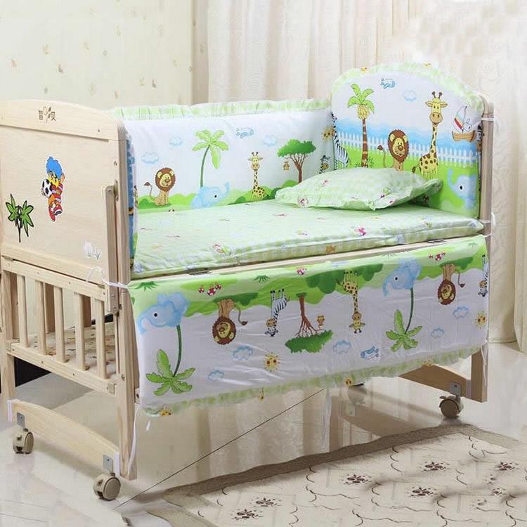 5PCS/set newborn baby bedding set for girl boys bedding set 100x58cm baby crib bumper baby cot set baby bed bumper CP01(China (Mainland))