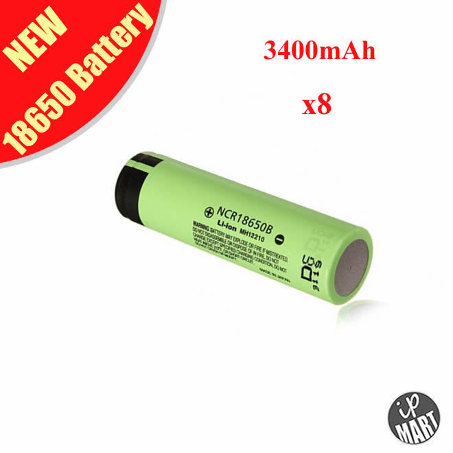 ! 100% Original NCR18650B 18650 Battery Rechargeable Li-ion Lithium 3.6V 3400mAh Panasonic - IP-Mart store