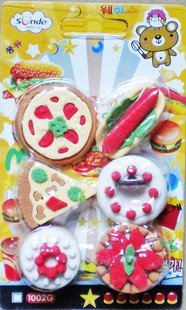 free shipping Wholesale 10set/lot  Cake rubber / rubber Korea Cartoon / pastry rubber / rubber dishes erase