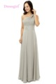 Dressgirl 2016 Cheap Bridesmaid Dresses Under 50 A line One shoulder Floor Length Silver Chiffon Beaded