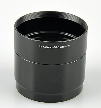 Free Shipping !!58mm 58 mm filter mount Lens Adapter Tube Ring for canon g10 g11 g12