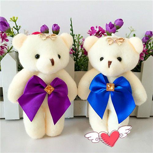 1 ШТ Мультфильм букет алмаз плюшевый мишка кукла свадебный подарок детская игрушка телефон ключ кулон + бесплатная доставка