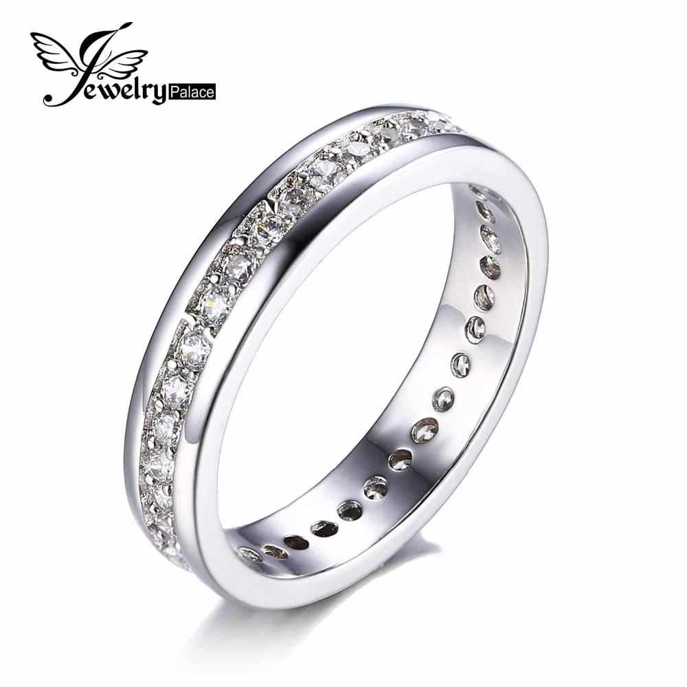 JewelryPalace Cubic Zirconia Wedding Band Channel Eternity ...