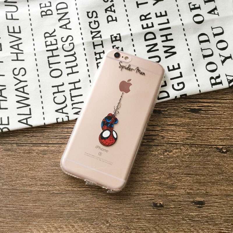 phone shell for apple iphone 6 6s Cases Soft TPU case Batman iron Man SpiderMan cases for iphone 6 back cover marvel avengers