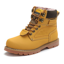 2015 hombres de la nieve botas cuero genuino botas con la piel de alta calidad de hombre exterior zapatos más el tamaño funcionan(China (Mainland))
