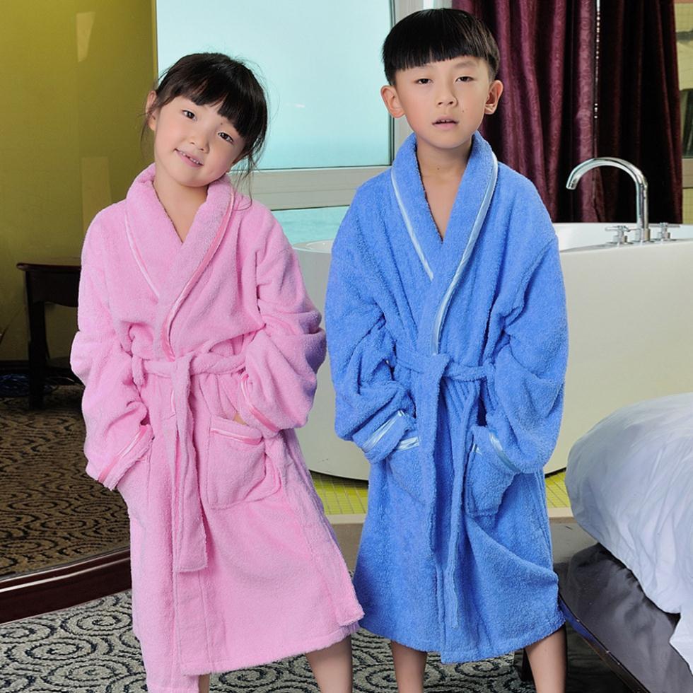 Terry serviette robe promotion achetez des terry serviette for Peignoir eponge garcon