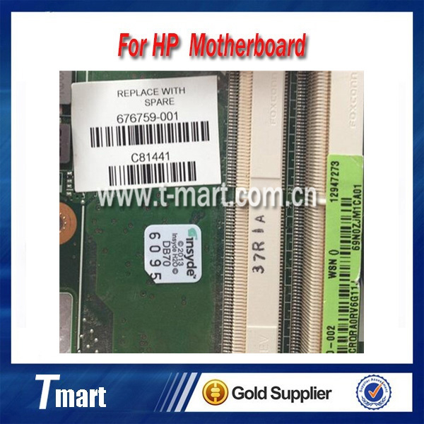 100% working Laptop Motherboard for hp 676759-001 DV4-5000 System Board fully tested