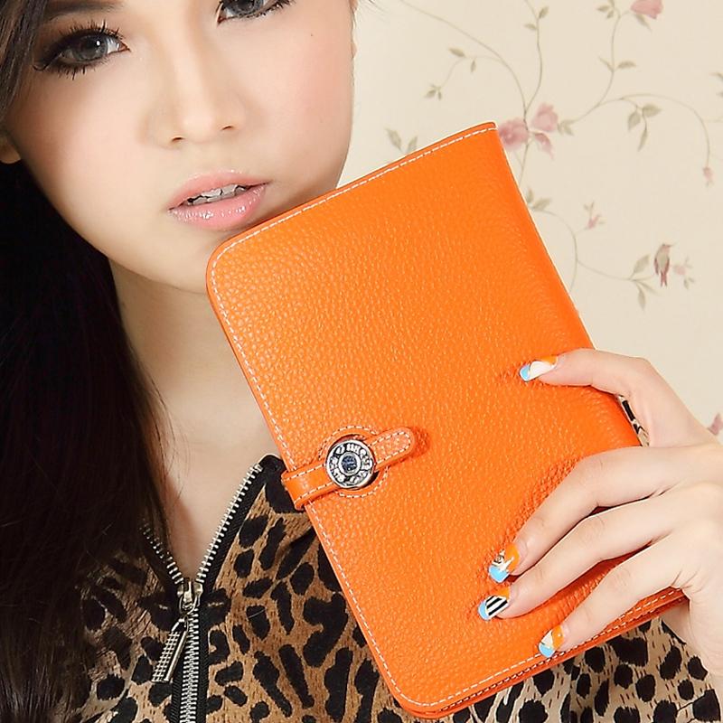 Genuine leather Wallets,Luxury wallet women wallets 2014 designer bag passport holder cowhide clutch medium-long wallet-SYRM0019(China (Mainland))