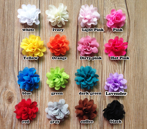 "50pcs Fashion Infant flower Babies Children Mini Chiffon Flowers 2"" Charlotte Tulle Puff Flower Head hydrangea Accessoires(China (Mainland))"