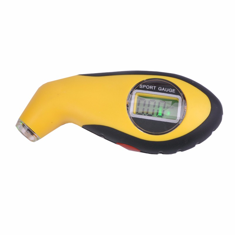 Portable liquid crystal display tire pressure gauge, LED light tire pressure gauge, electronic digital barometer, free shipping(China (Mainland))