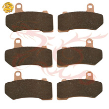 Sintered Copper Motorcycle parts motorbike front & rear brake pads for HARLEY DAVIDSON FLHX Street Glide brake disks