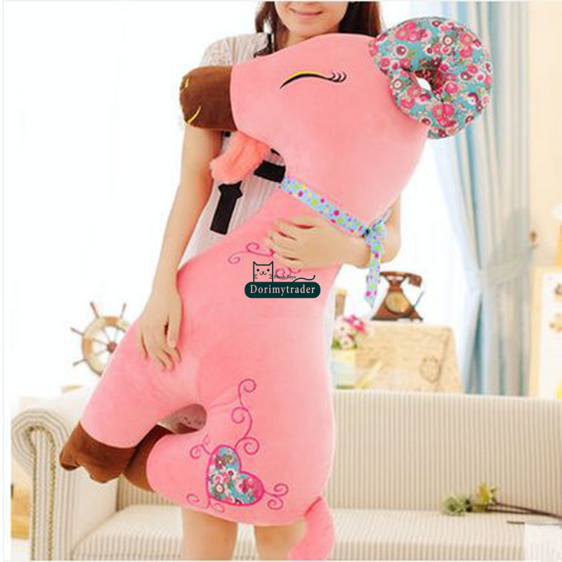 Dorimytrader 43'' / 110 Large Goat Toy Plush Soft Stuffed Large Animal Sheep Doll 3 Colors Nice Kids Gift Free Shipping DY60906(China (Mainland))