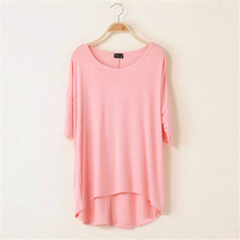 1 Piece Cotton Casual Women Oversized Batwing Short Sleeve T-shirts Loose Tops Tee 16 Colors(China (Mainland))