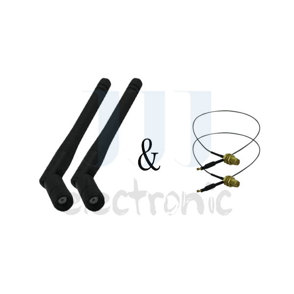 2 2dBi WiFi RP-SMA Dual Band Antennas + 2 12in U.fl Cables for Linksys Wireless Routers(China (Mainland))
