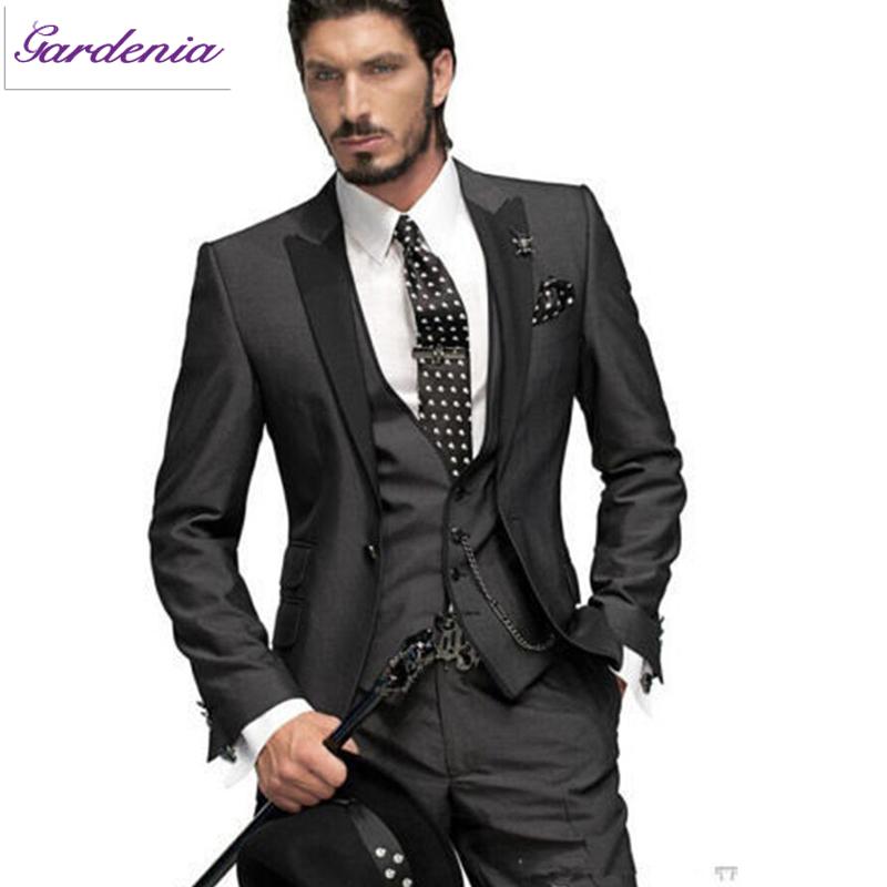 Latest designs black shinny wedding dresses for men three for Wedding dresses for men