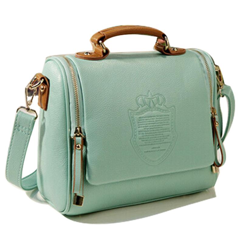 Women Bag 2015 New Trendy Women Messenger Bags Barrel-shaped Crossbody Shoulder Bags Preppy Style Autumn Women Leather Handbags(China (Mainland))