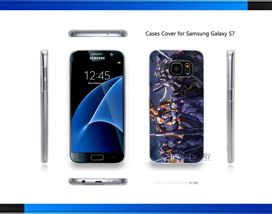 5 Gundams GW Hard Clear for Samsung Galaxy S3 S4 S5 Mini S6 S6 Edge Plus S7 Edge(China (Mainland))