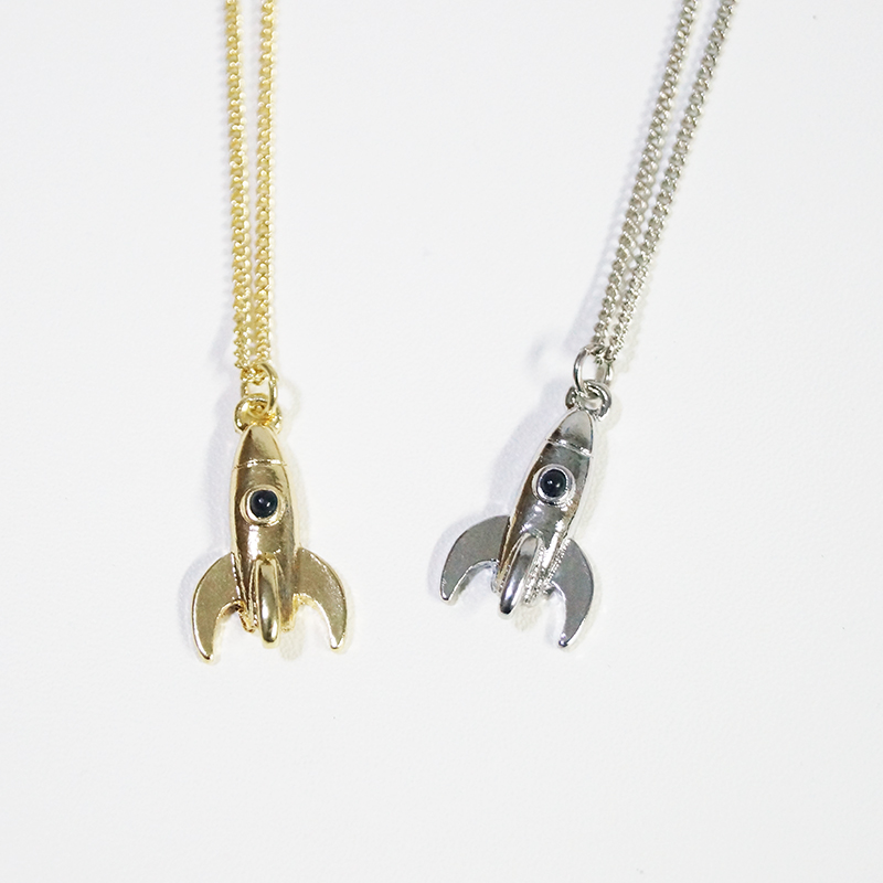 free shipping 6pcs/lot fashion jewelry accessories space rockets small pendant necklace(China (Mainland))