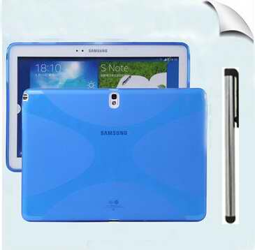 Colorful ultra Slim TPU Gel Rubber Soft Skin Cover X Style Silicone Case Samsung GalaxyTab S 8.4 10.5 T700 800 Inch Free Pen - Hongkong Blue-ant LTD store