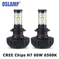 Oslamp H7 CREE Chips LED Car Headlight Bulb Kit 60W 6000Lm 6500K Auto Front Light H7