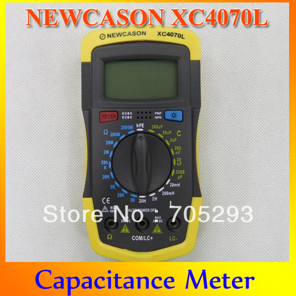 Upgrade Free Shipping NEWCASON XC64070L Capacitor Tester Meter 100% Test Wholesale & Details Compeive price Quality Capacitance(China (Mainland))