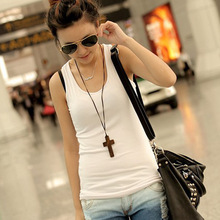 Slim vest women sleeveless top Korean was thin candy-colored tops(China (Mainland))