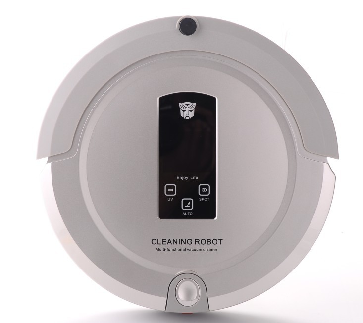 (Free To Russia)New Arrival OEM Shining Logo Robot Vacuum Cleaner with Lowest Noise and Two way Virtual wall