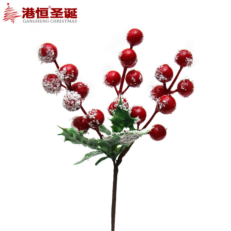 22*12cm Red Fake Fruit Small Berries Bunch Artificial Flower Bouquet Christmas Wedding Home Decoration XmasF062(China (Mainland))