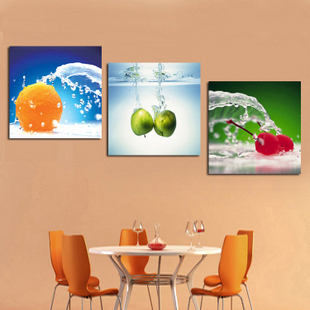 HD modern home decorative water oranges 3 panels modern wall painting wall picture