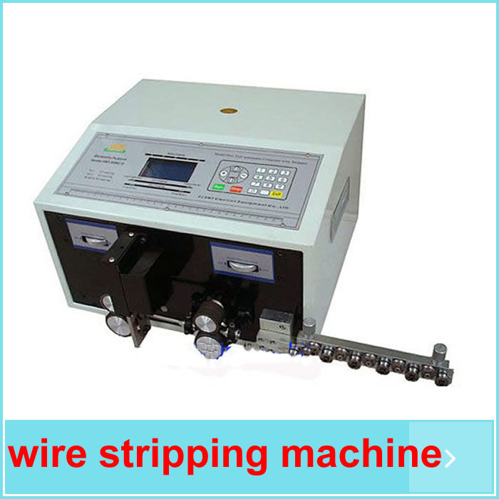 automatic wire stripping machine SWT508C, wire cutting machine Wire Cutting & Stripping Machine 2.5mm2 + gift(China (Mainland))
