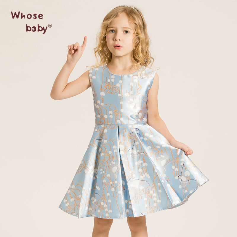 Whosebaby Spring Girl Dress Princess Dress High-end European and American Foreign Trade Manufacturers for Direct D2216(China (Mainland))