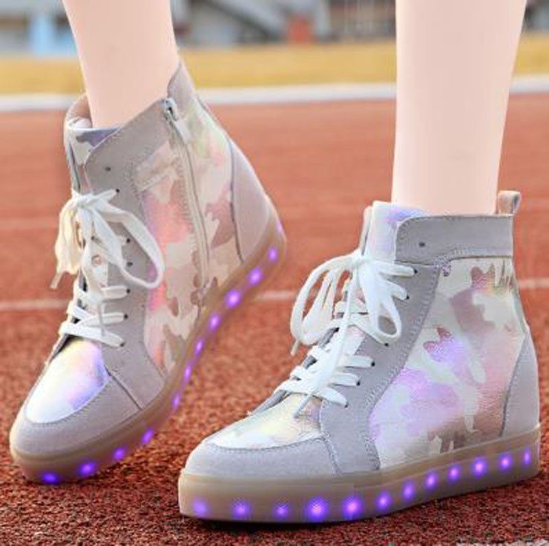 Led Luminous Shoes 2015 Casual Shoes Led Shoes For Women Fashion Adult LED Lights Up USB Charging Shoe chaussure femme led<br><br>Aliexpress