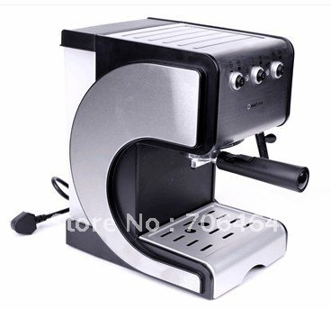 2012 new semi-automatic cappuccino coffee maker espresso coffee machine wholesale pod coffee machine with steaming foaming milk(China (Mainland))