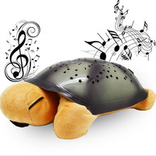 2016 Hot selling Turtle led Night Light with 4 Musics Stars projector for baby Lamp toy With music Christmas birthday gift(China (Mainland))