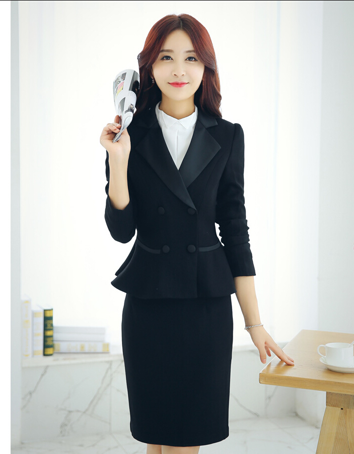Fashion women clothing slim falbala two-piece women career suits business office contracted professional suits  Одежда и ак�е��уары<br><br><br>Aliexpress