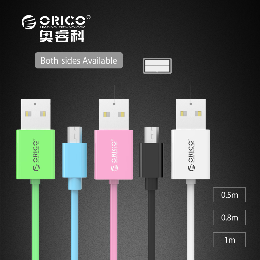 [Original Micro USB Cable] ORICO 5V 3A Allowed Micro USB 2.0 Charging Data Cable Length 0.5/0.8/1.0m for Smartphones and Tablets(China (Mainland))