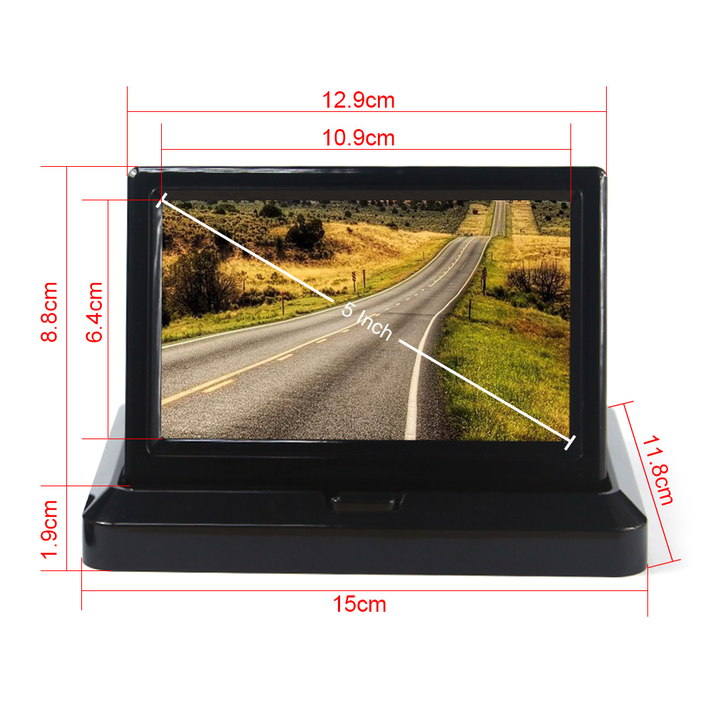 "Гаджет  5"" Car Rear View System Foldable TFT Color LCD Car Reverse Rearview 5 inch 16: 9 Car Security Monitor for Camera DVD VCR 12V None Автомобили и Мотоциклы"