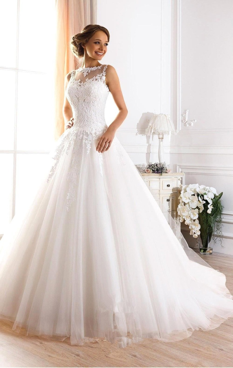 Buy vestidos de novia 2016 cheap white for Where to buy yasmine yeya wedding dresses