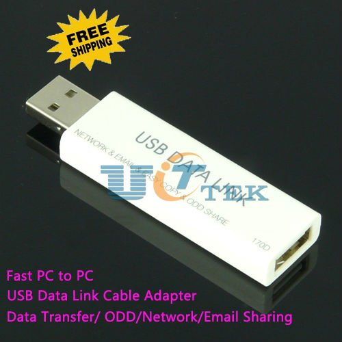 USB2.0 Data Link Cable Adapter - Fast PC To PC Data Transfer/ ODD / Network / Email Sharing hi-speed 480Mbps, Free Shipping(China (Mainland))