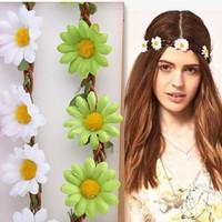 2016 фестиваль богемной цветок оголовье новой невесты, Свадебные цветочные гирлянда летом волос полоса резинка для волос оголовье