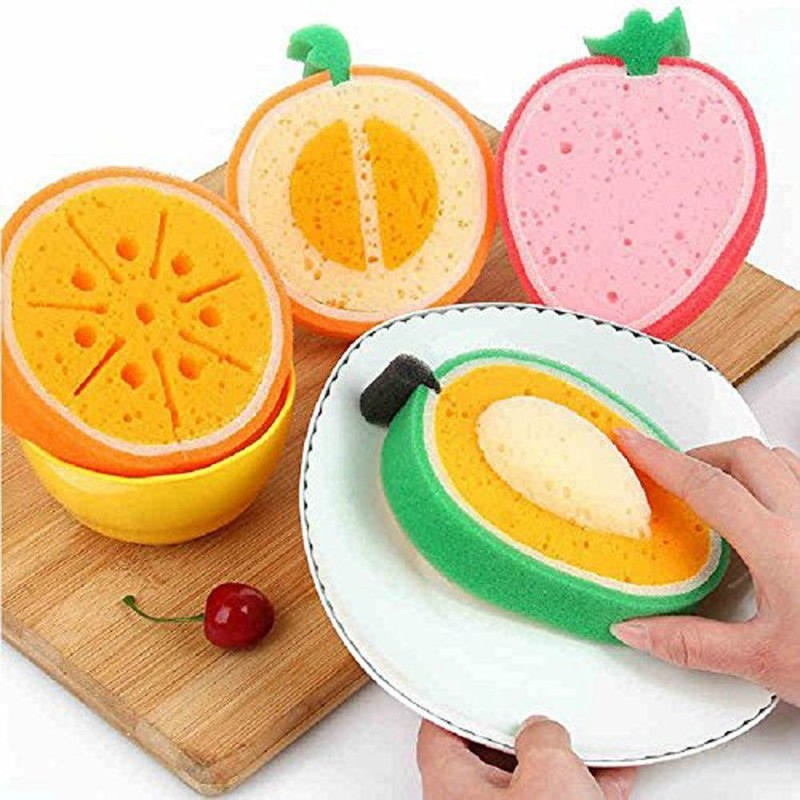 Home Kitchen Tool Fruit Dish Bowls Pan Washing Cleaning Cloth Sponge Scouring House tableware Cleaner(China (Mainland))
