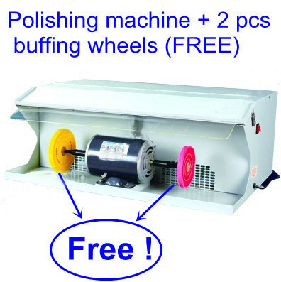 """Jewelry Tools and Equipment Polishing Machine with dust collector with 2 Free 6"""" buffing wheels, jewelry Polishing machine(China (Mainland))"""